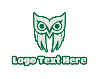 Old - Old Green Owl logo design