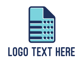 File - Blue Sheet logo design