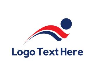 Person - Human Flag logo design