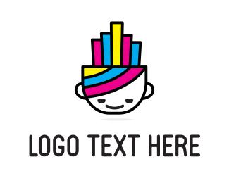 Chart - Inkjet Character logo design