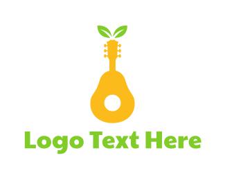 Band - Pear Guitar  logo design