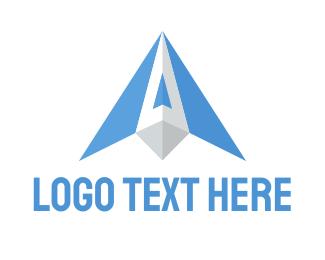 Paper Plane - Blue Wings logo design