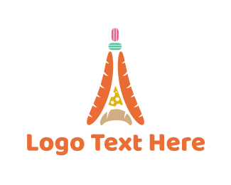 Baguette - French Cuisine logo design