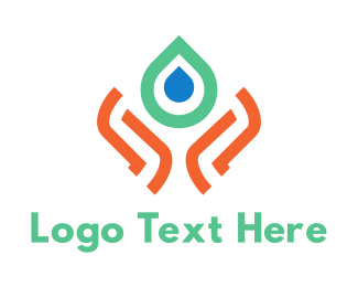 Bio - Water & Care logo design