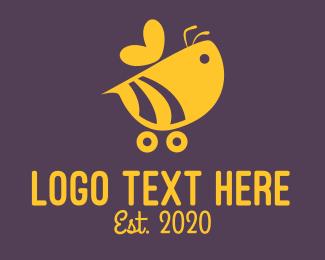 Go Kart - Bee Car logo design