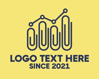 Lgbtiq - Paper Clip Statistics logo design