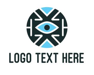 Protection - Vision Robot logo design