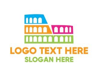 Theatre - Colorful Coliseum logo design