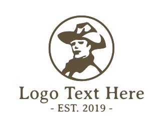 Western - Vintage Cowboy logo design