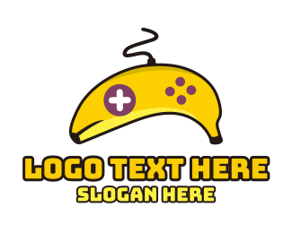Wii - Banana Gaming logo design