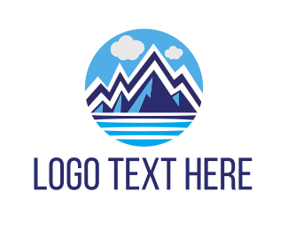 Outdoor - Blue Glacier logo design
