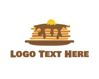 Waffle - Fluffy Pancakes logo design