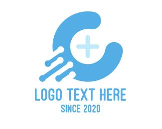 Sky Blue - Blue Medical C logo design