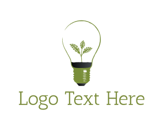 Light Bulb - Green Bulb logo design