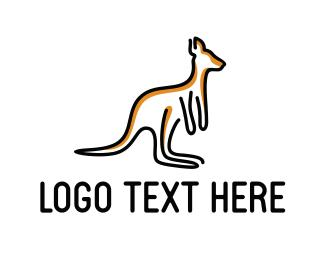 Australia - Kangaroo Outline logo design