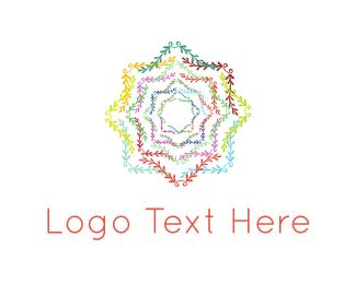 Mandala - Floral Star logo design
