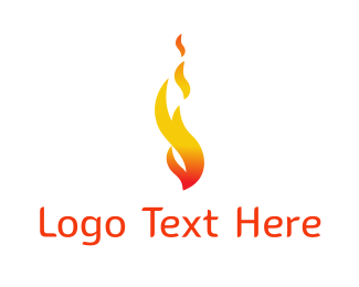Torch - Orange Flame logo design