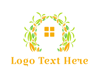 Home And Garden - House Garden logo design
