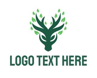 Deer - Green Deer logo design