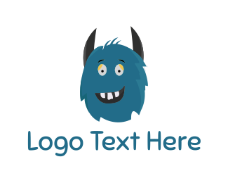 Horror - Blue Monster logo design