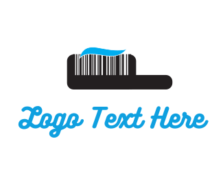 Barcode - Black Toothbrush Barcode logo design