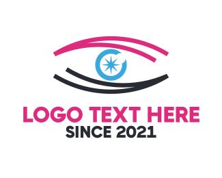 Optical - Star Eye logo design