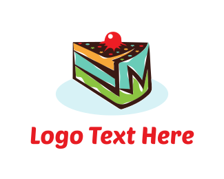 Chef - Cake Slice logo design