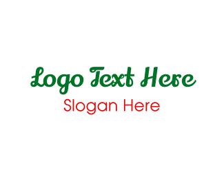 Handwriting - Green & Cursive logo design