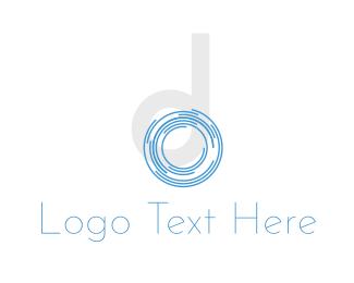 Photograph - Shutter Letter D logo design