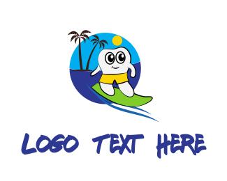 Surfing - Surfer Tooth logo design