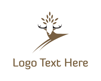 Jump - Deer Crown logo design