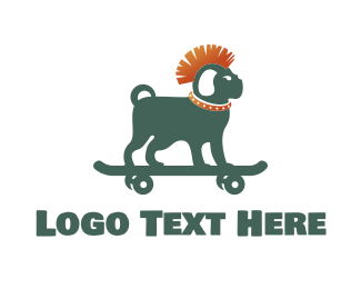 Doggie - Skateboarding Dog logo design