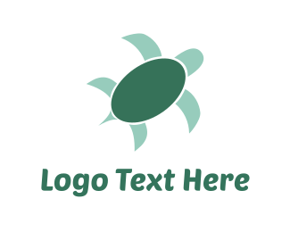 Aquarium - Green Turtle logo design