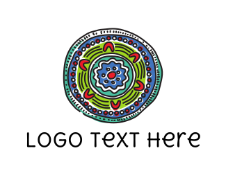 Tibetan - Colorful Mandala logo design
