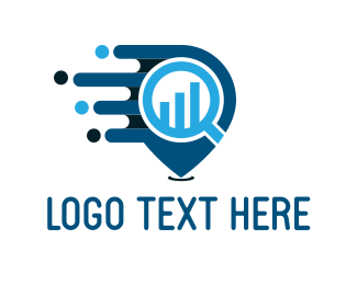 Bar Chart - Financial Search logo design