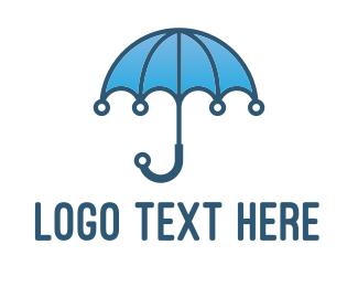 Weather - Tech Umbrella  logo design
