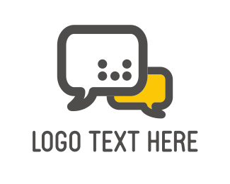Phone - Speech Bubbles logo design