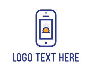 Cellphone - Blue Phone logo design
