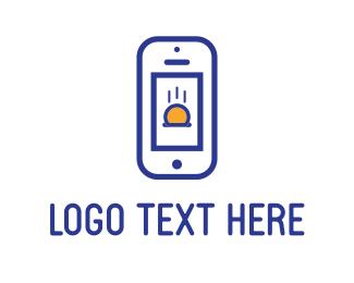 Telephone - Blue Phone logo design