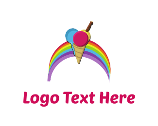 Gelato - Rainbow Ice Cream logo design