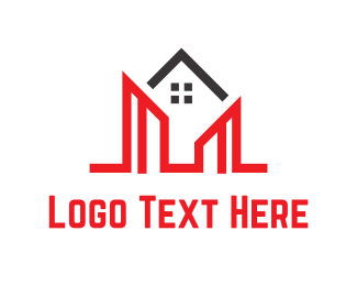 Housing - Red Buildings logo design