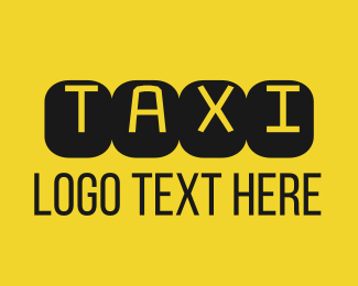 Cheap - Black & Yellow Taxi Text logo design
