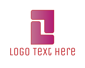 Red And Pink - Pink Letter Z logo design