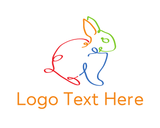 Domestic - Strings Bunny logo design