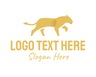 Feline - Yellow Lion logo design