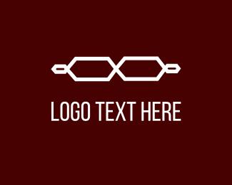 Binocular - White Glasses logo design