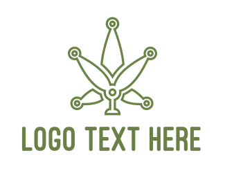 Edibles - Green Weed Tech logo design