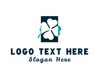 Lucky - Blue Clover logo design