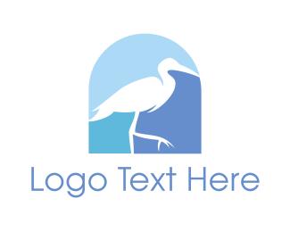 Stork - Blue Stork  logo design