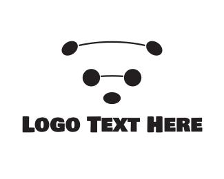 Conservation - Black & White Bear logo design